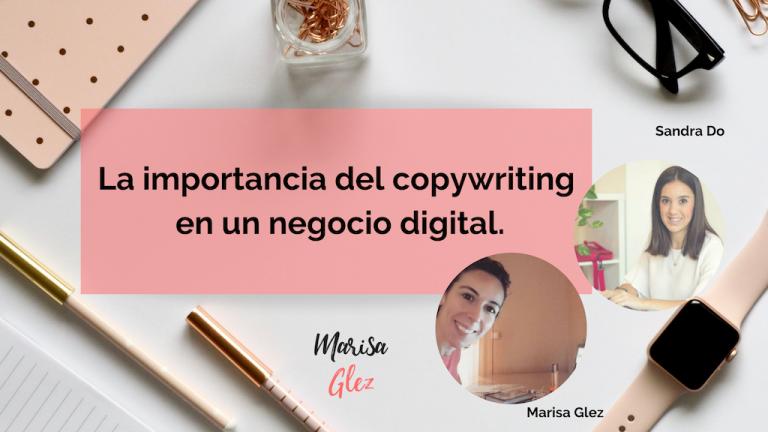 Caratula la importancia del copywriting