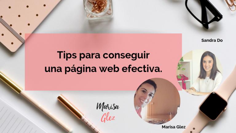 Tips para conseguir una página web efectiva